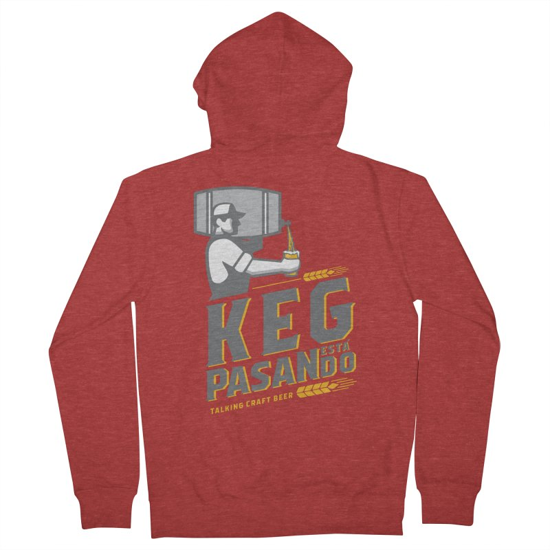 Kept Keg Pour (transparent) Men's French Terry Zip-Up Hoody by Talking Craft Beer Shop