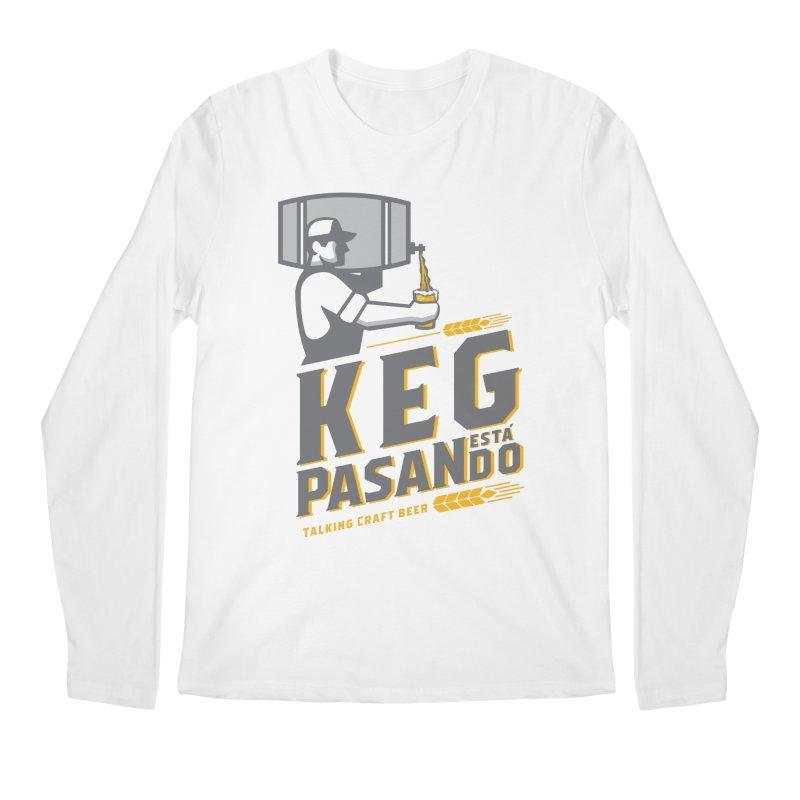 Kept Keg Pour (transparent) Men's Regular Longsleeve T-Shirt by Talking Craft Beer Shop