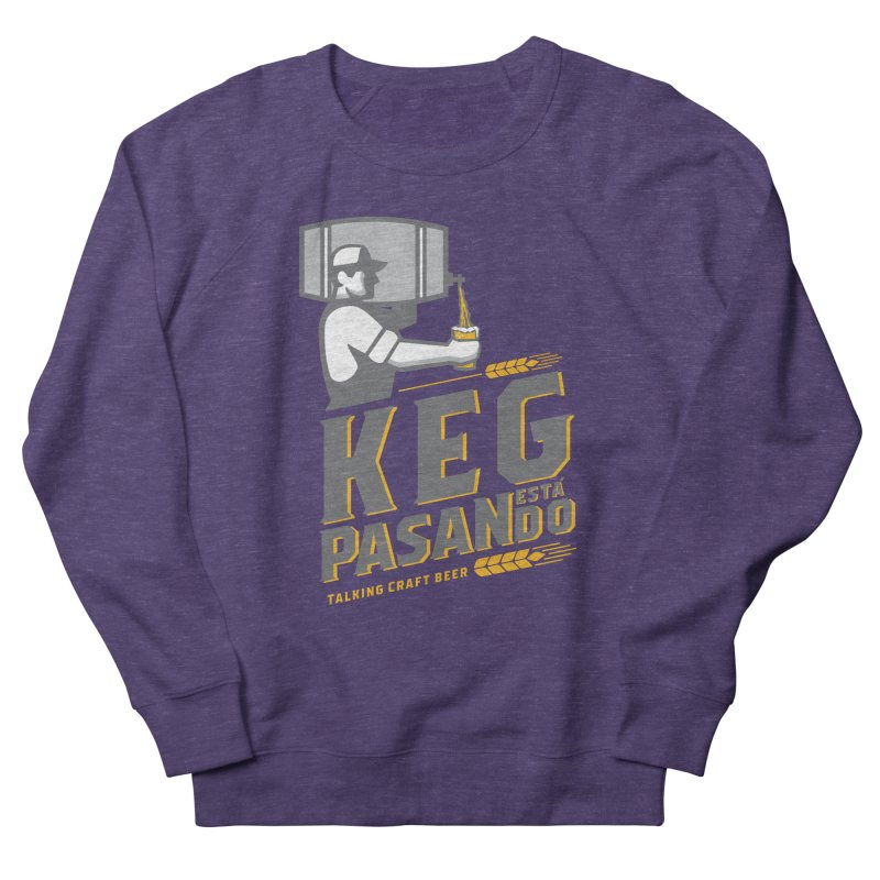 Kept Keg Pour (transparent) Men's French Terry Sweatshirt by Talking Craft Beer Shop