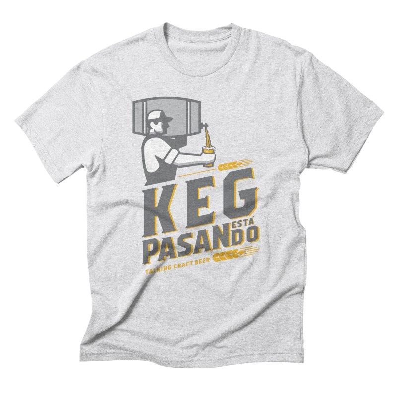 Kept Keg Pour (transparent) Men's Triblend T-Shirt by Talking Craft Beer Shop