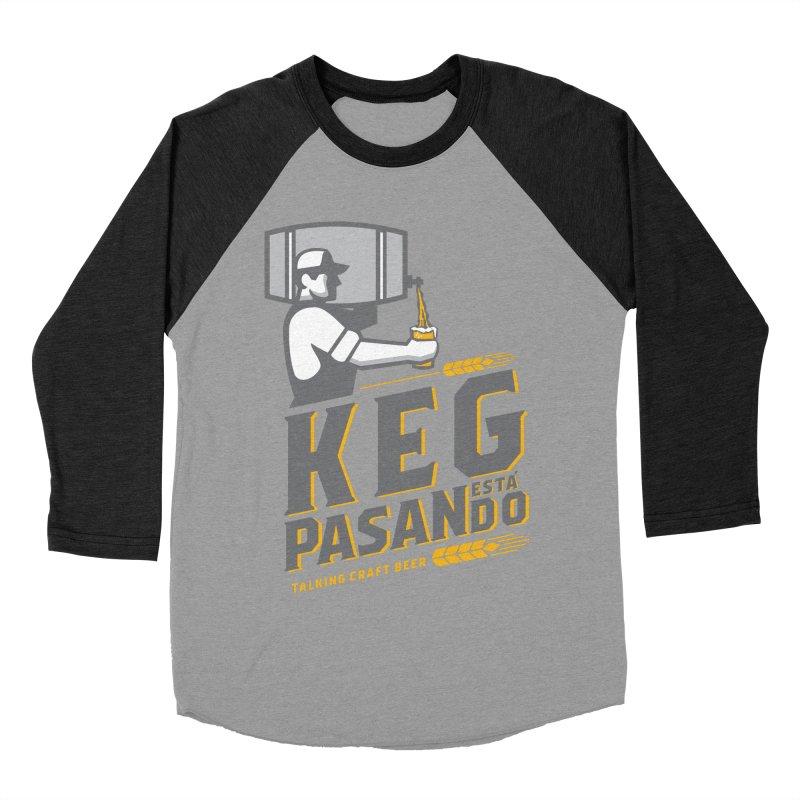 Kept Keg Pour (transparent) Women's Baseball Triblend Longsleeve T-Shirt by Talking Craft Beer Shop