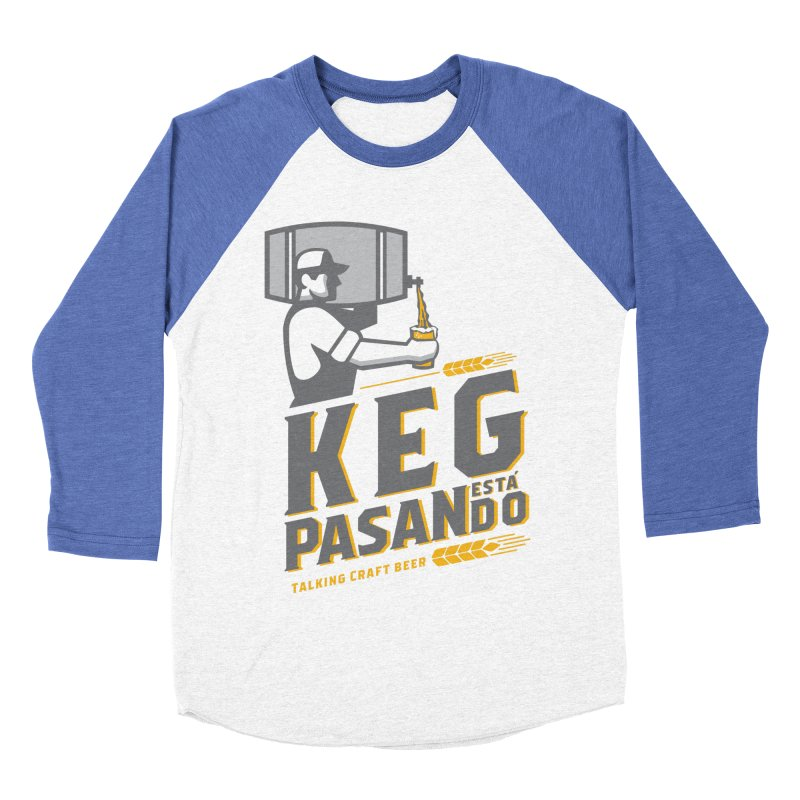 Kept Keg Pour (transparent) Men's Baseball Triblend Longsleeve T-Shirt by Talking Craft Beer Shop