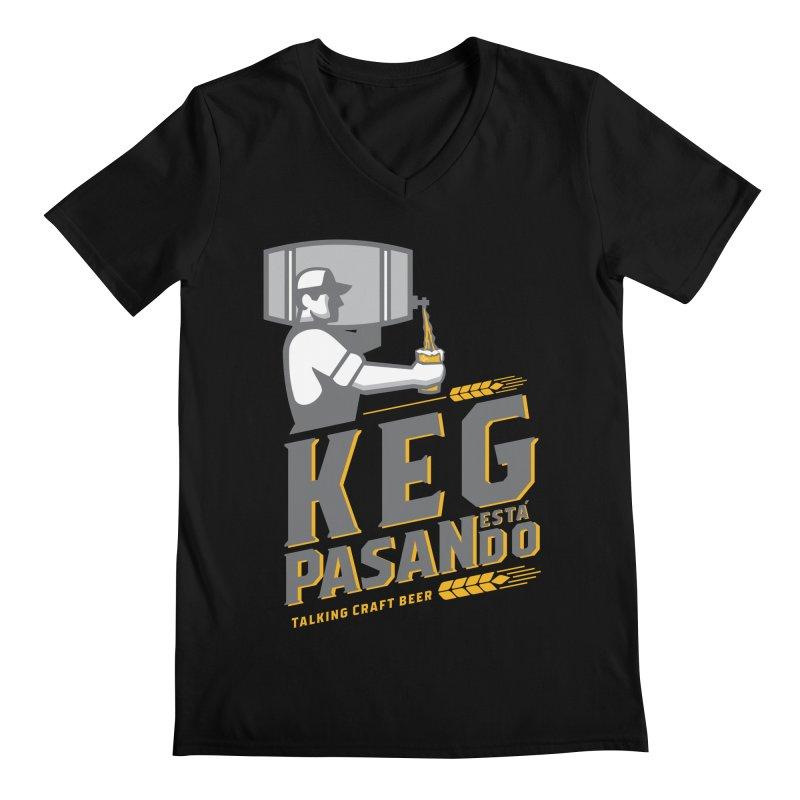Kept Keg Pour (transparent) Men's Regular V-Neck by Talking Craft Beer Shop
