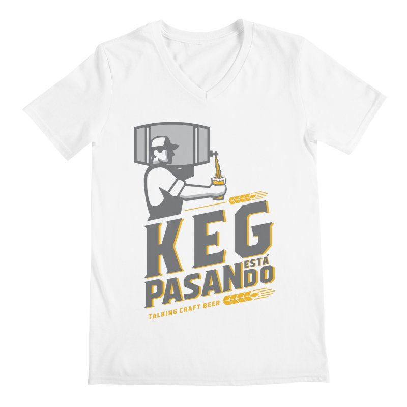 Kept Keg Pour (transparent) Men's V-Neck by Talking Craft Beer Shop