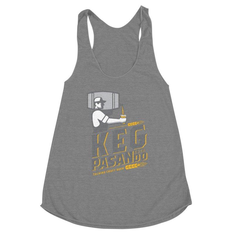 Kept Keg Pour (transparent) Women's Racerback Triblend Tank by Talking Craft Beer Shop