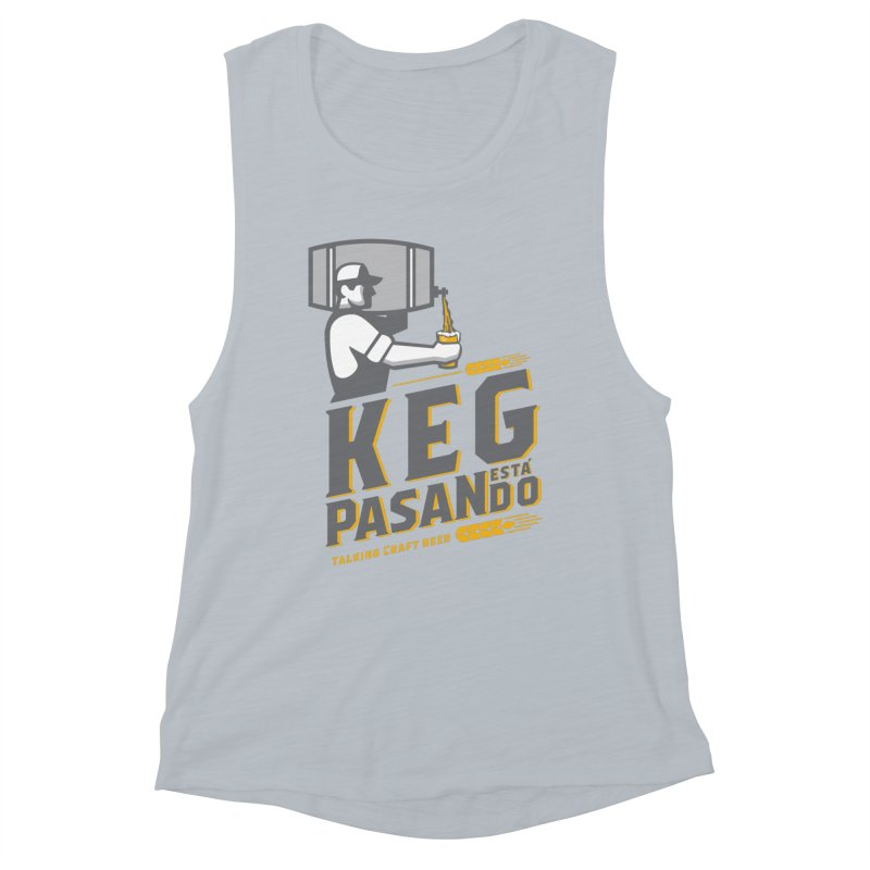 Kept Keg Pour (transparent) Women's Muscle Tank by Talking Craft Beer Shop
