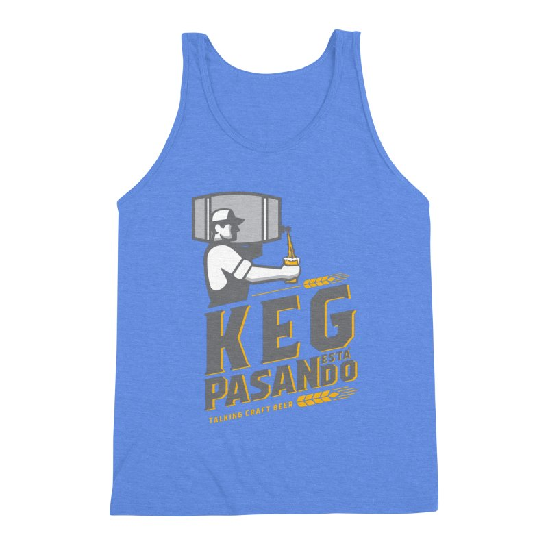 Kept Keg Pour (transparent) Men's Triblend Tank by Talking Craft Beer Shop