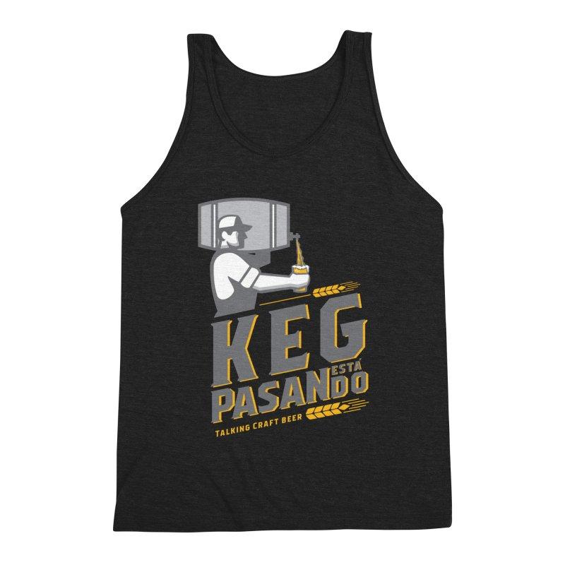 Kept Keg Pour (transparent) Men's Triblend Tank by Talking Craft Beer Shop
