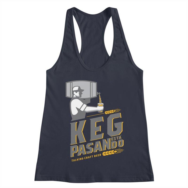 Kept Keg Pour (transparent) Women's Racerback Tank by Talking Craft Beer Shop
