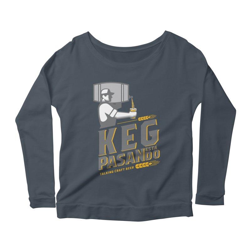 Kept Keg Pour (transparent) Women's Scoop Neck Longsleeve T-Shirt by Talking Craft Beer Shop