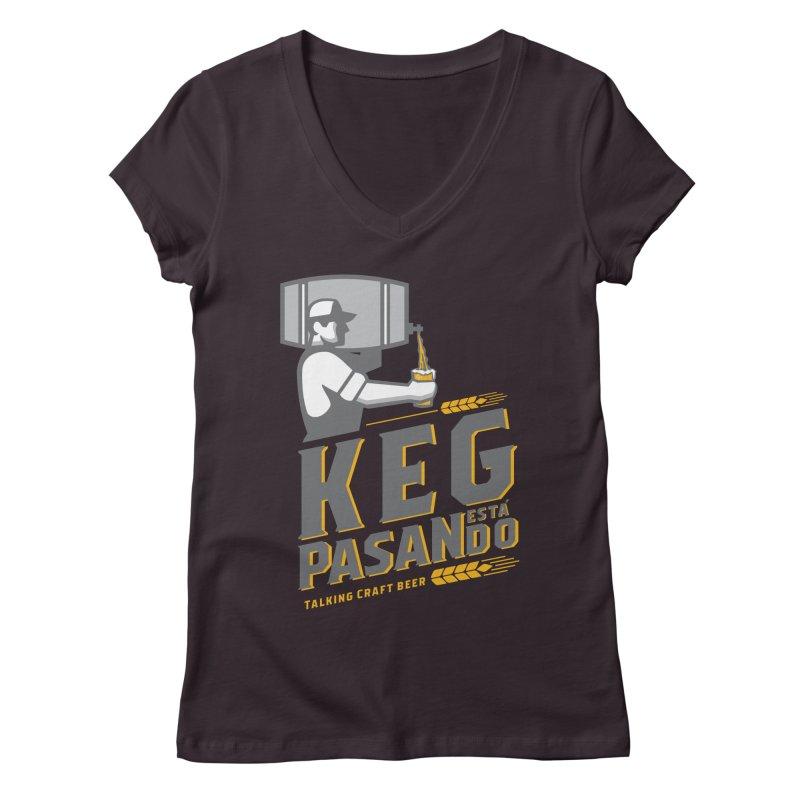 Kept Keg Pour (transparent) Women's Regular V-Neck by Talking Craft Beer Shop