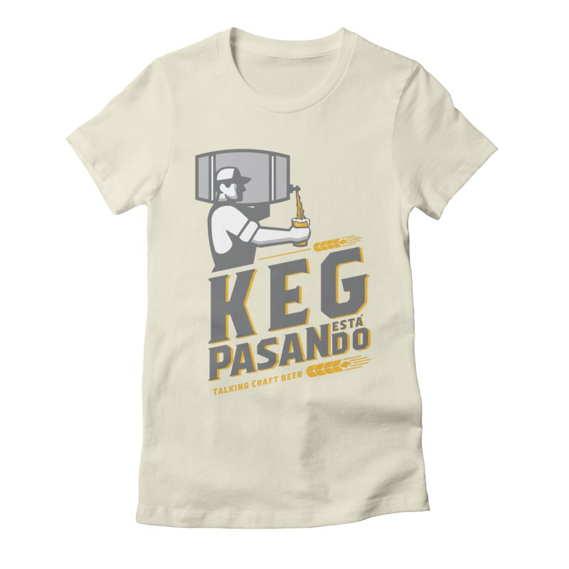 Kept Keg Pour (transparent) Women's Fitted T-Shirt by Talking Craft Beer Shop