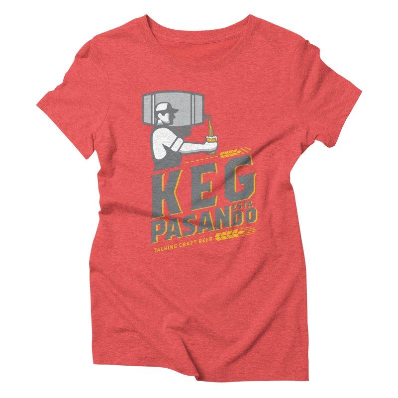 Kept Keg Pour (transparent) Women's Triblend T-Shirt by Talking Craft Beer Shop