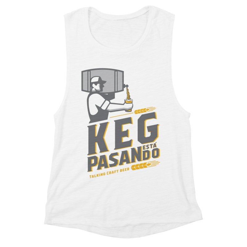Kept Keg Pour (transparent) Women's Muscle Tank by Talking Craft Beer Shop