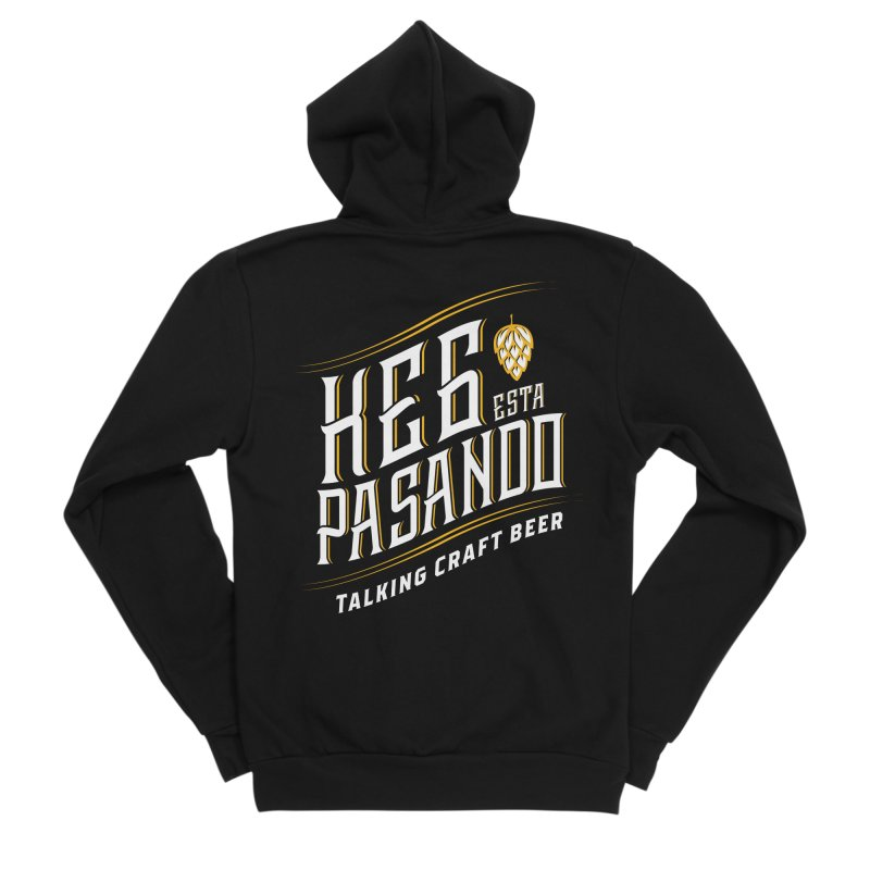 Kept Tagline (transparent) Men's Sponge Fleece Zip-Up Hoody by Talking Craft Beer Shop