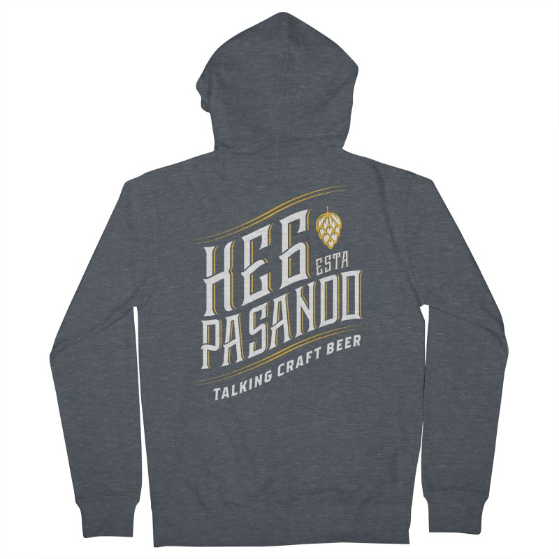 Kept Tagline (transparent) Men's French Terry Zip-Up Hoody by Talking Craft Beer Shop