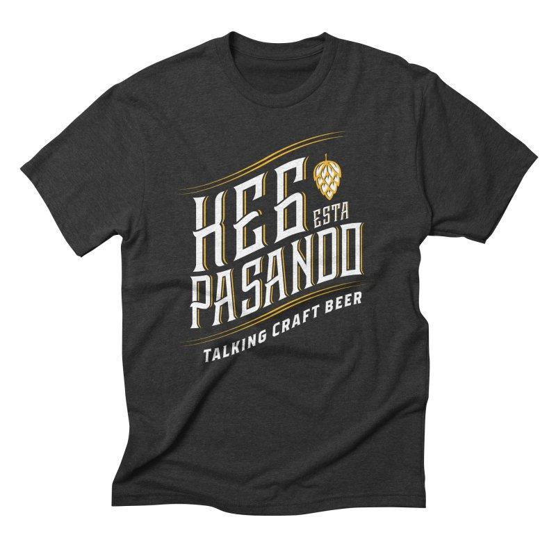 Kept Tagline (transparent) Men's Triblend T-Shirt by Talking Craft Beer Shop