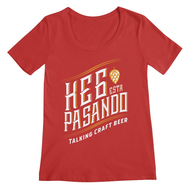 Kept Tagline (transparent) Women's Regular Scoop Neck by Talking Craft Beer Shop