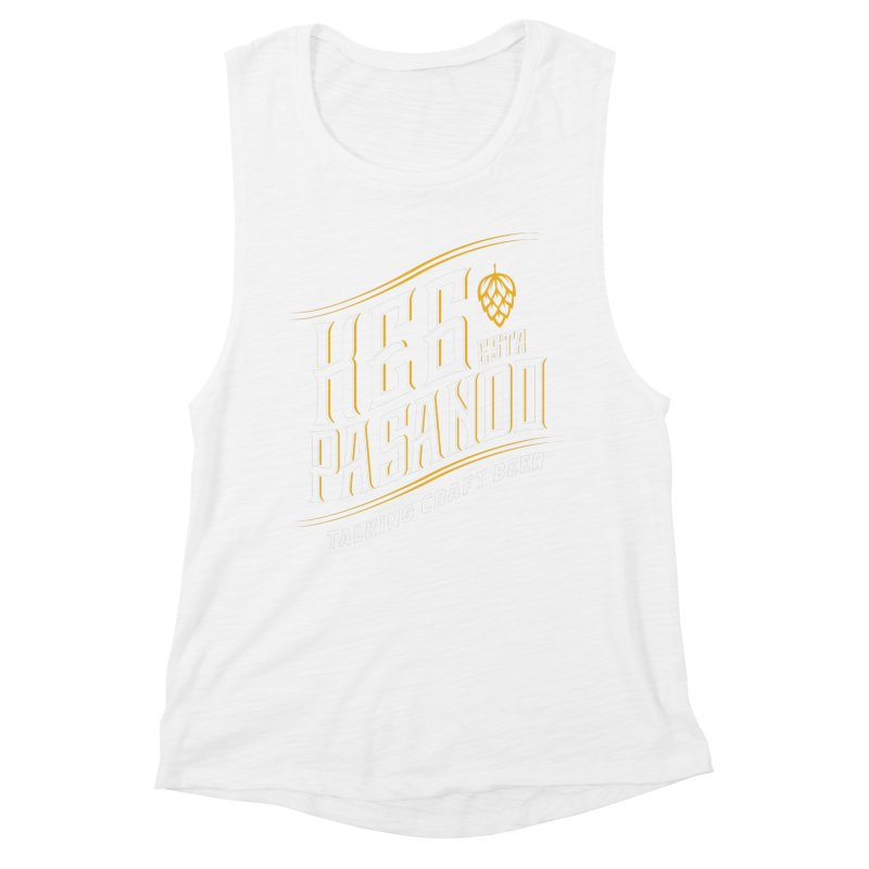 Kept Tagline (transparent) Women's Muscle Tank by Talking Craft Beer Shop