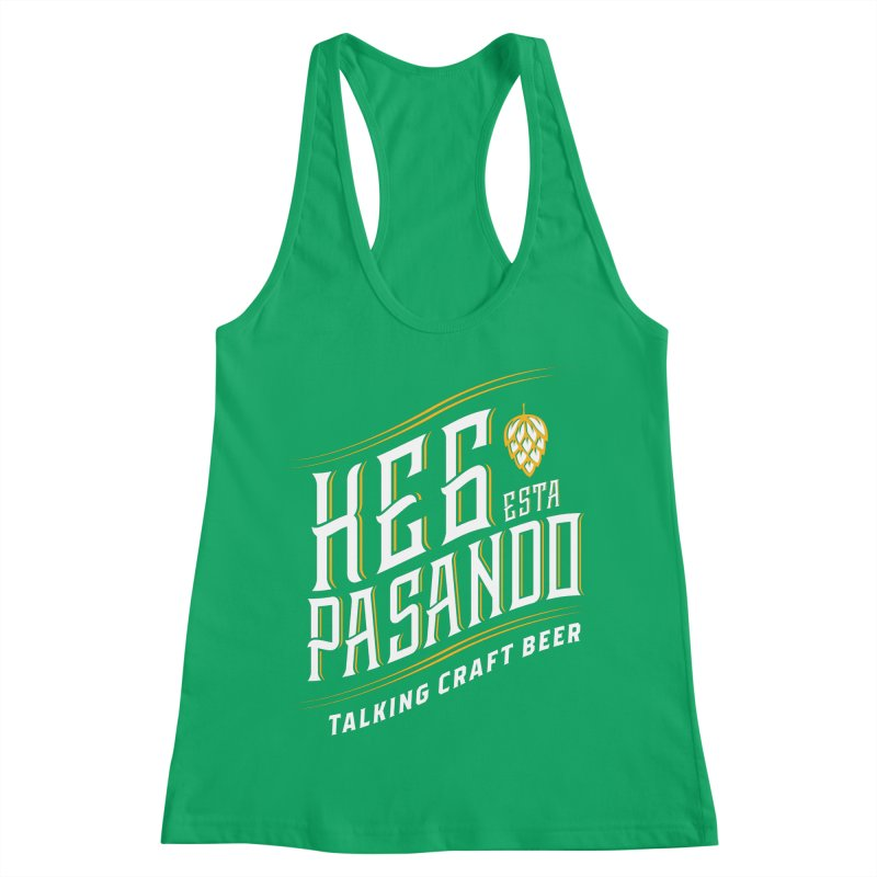 Kept Tagline (transparent) Women's Racerback Tank by Talking Craft Beer Shop