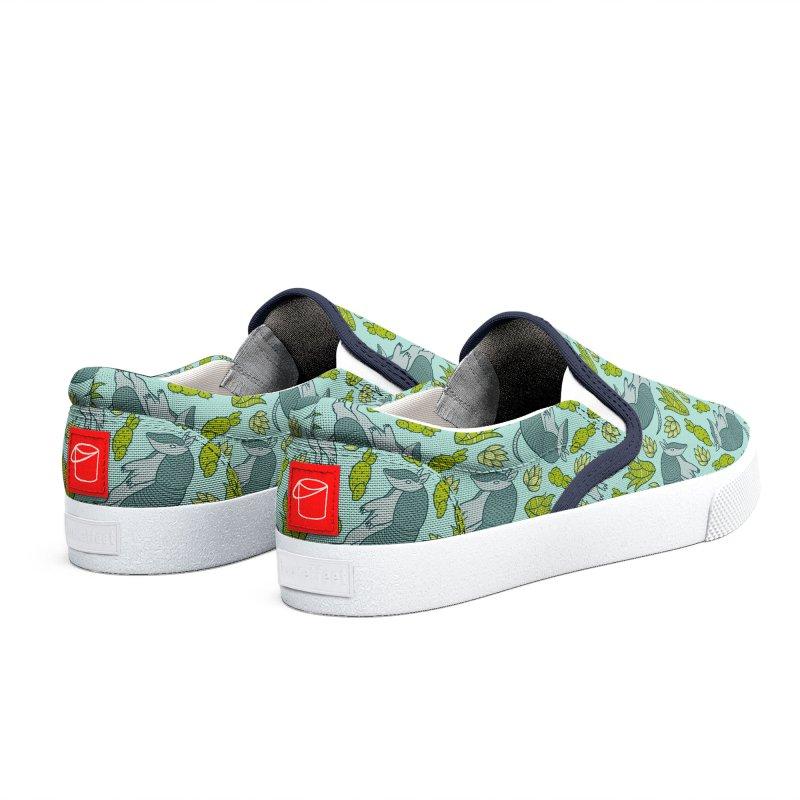 Armadillo Cactus Pattern Men's Shoes by Tamara Lance