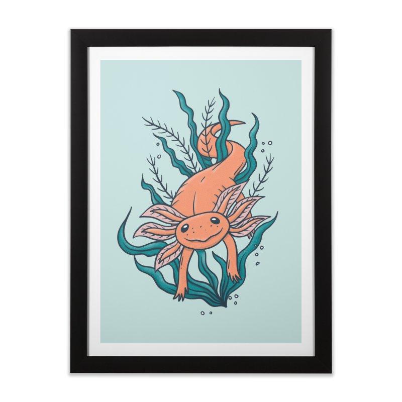 Axolotl Home Framed Fine Art Print by Tamara Lance