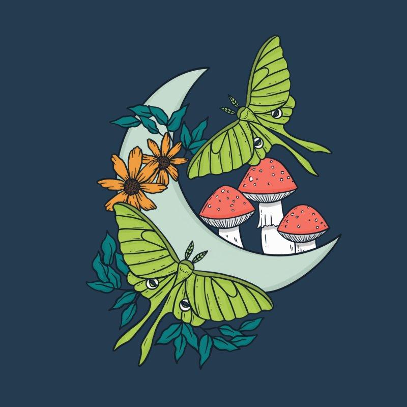 Moon, Moths, and Mushrooms Men's T-Shirt by Tamara Lance