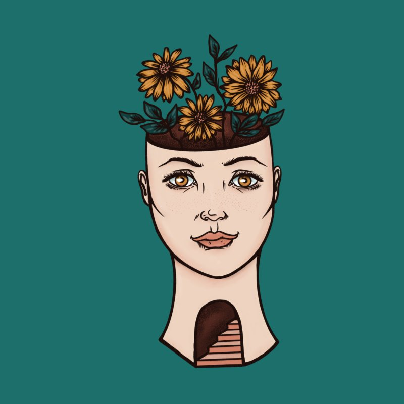 Woman's Flower Head Accessories Bag by Tamara Lance