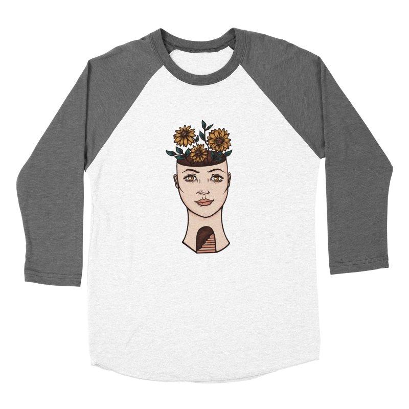 Woman's Flower Head Women's Longsleeve T-Shirt by Tamara Lance