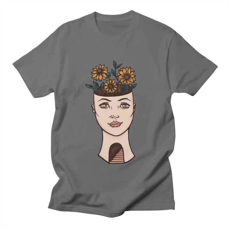 Woman's Flower Head Men's T-Shirt by Tamara Lance