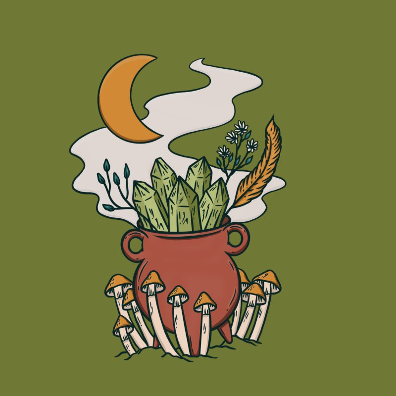 Herbal Magic Cauldron Women's Longsleeve T-Shirt by Tamara Lance