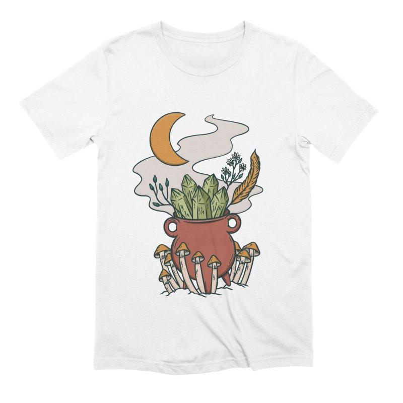 Herbal Magic Cauldron Men's T-Shirt by Tamara Lance