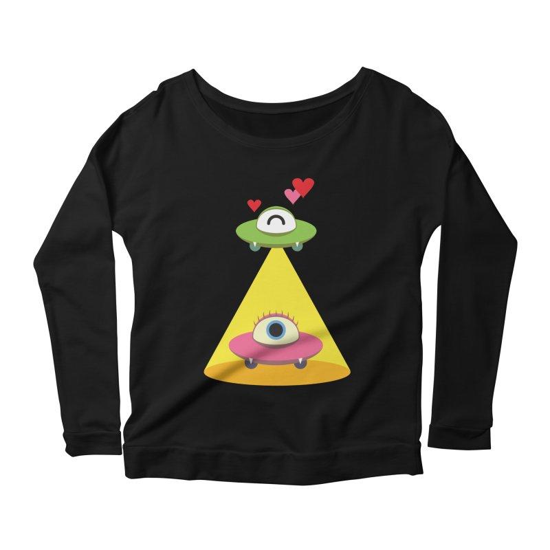 MIKA & NOBU Women's Scoop Neck Longsleeve T-Shirt by Sidewise Clothing & Design