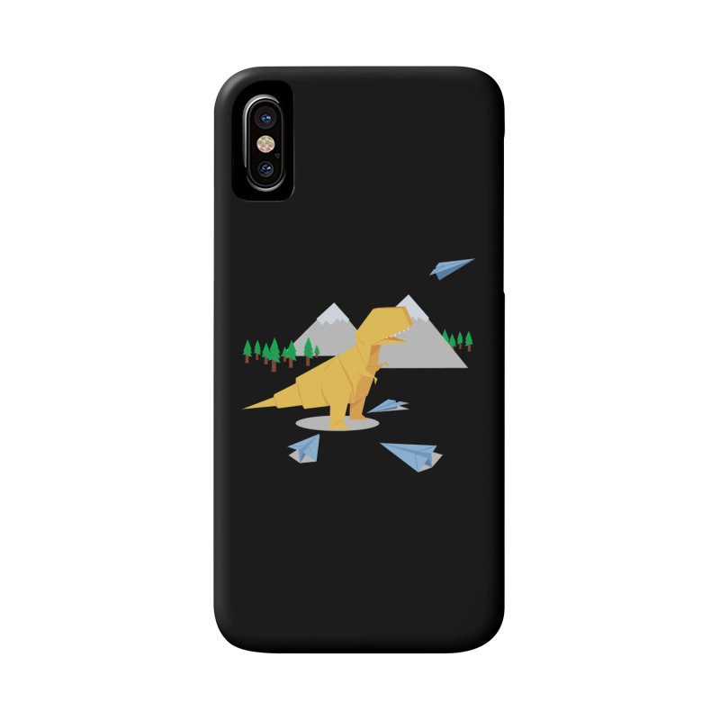 DINORIGAMI Accessories Phone Case by Sidewise Clothing & Design