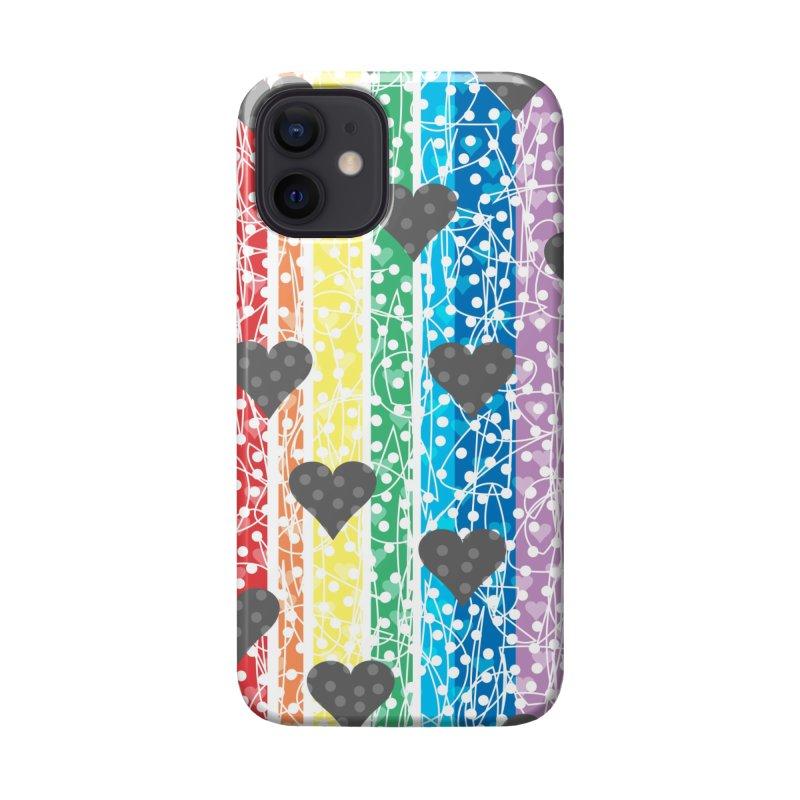 Rainbow Heart Accessories Phone Case by Tangerine Dusk By KA