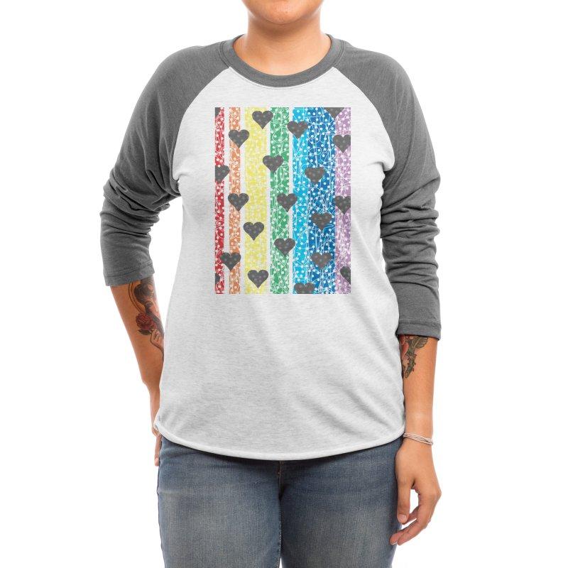 Rainbow Heart Women's Longsleeve T-Shirt by Tangerine Dusk By KA