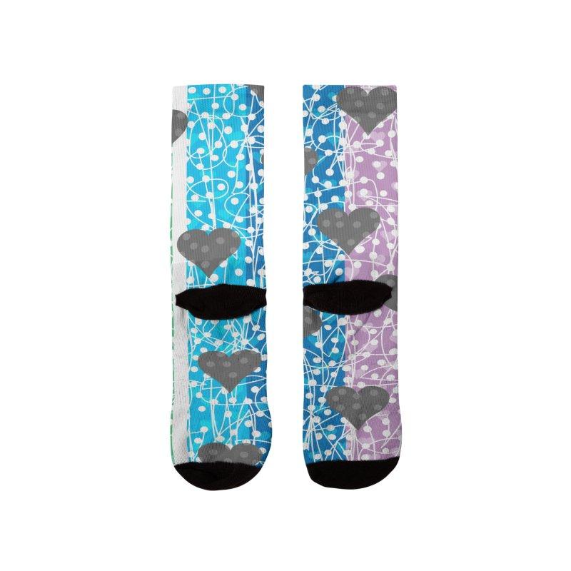 Rainbow Heart Women's Socks by Tangerine Dusk By KA