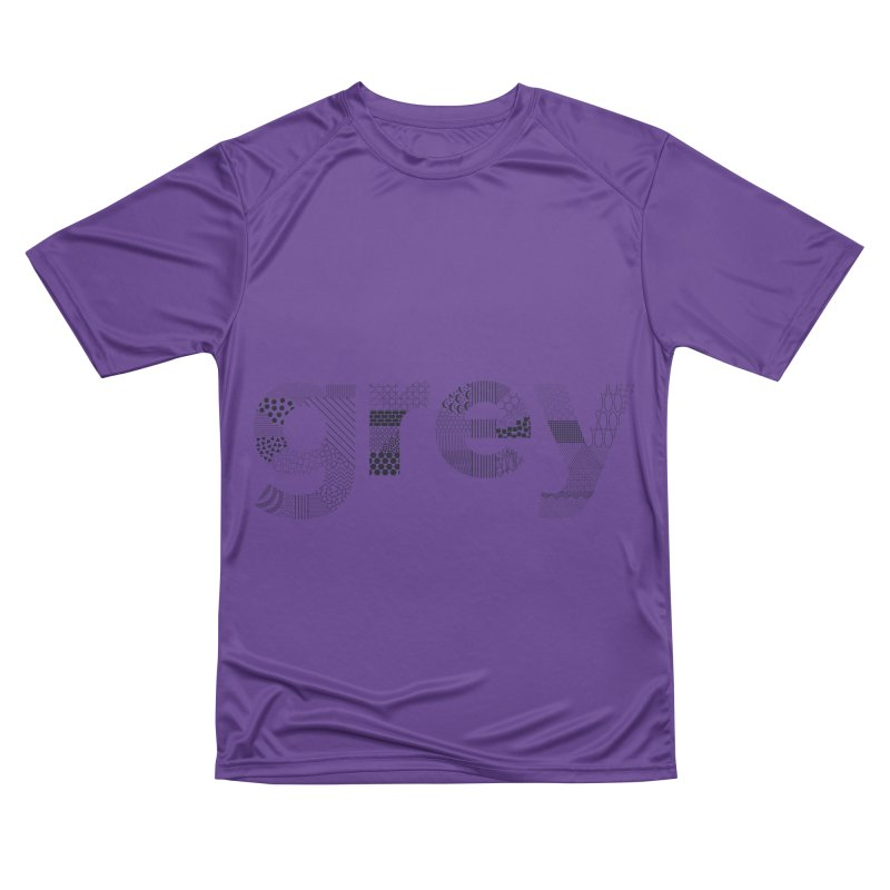 grey - Pattern Type Men's T-Shirt by Tangerine Dusk By KA