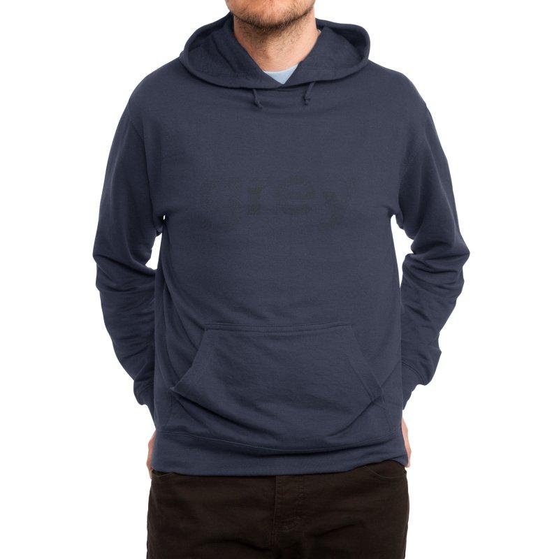 grey - Pattern Type Men's Pullover Hoody by Tangerine Dusk By KA