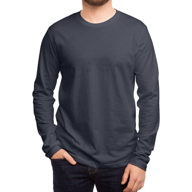grey - Pattern Type Men's Longsleeve T-Shirt by Tangerine Dusk By KA