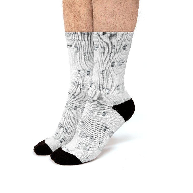 grey - Pattern Type Men's Socks by Tangerine Dusk By KA