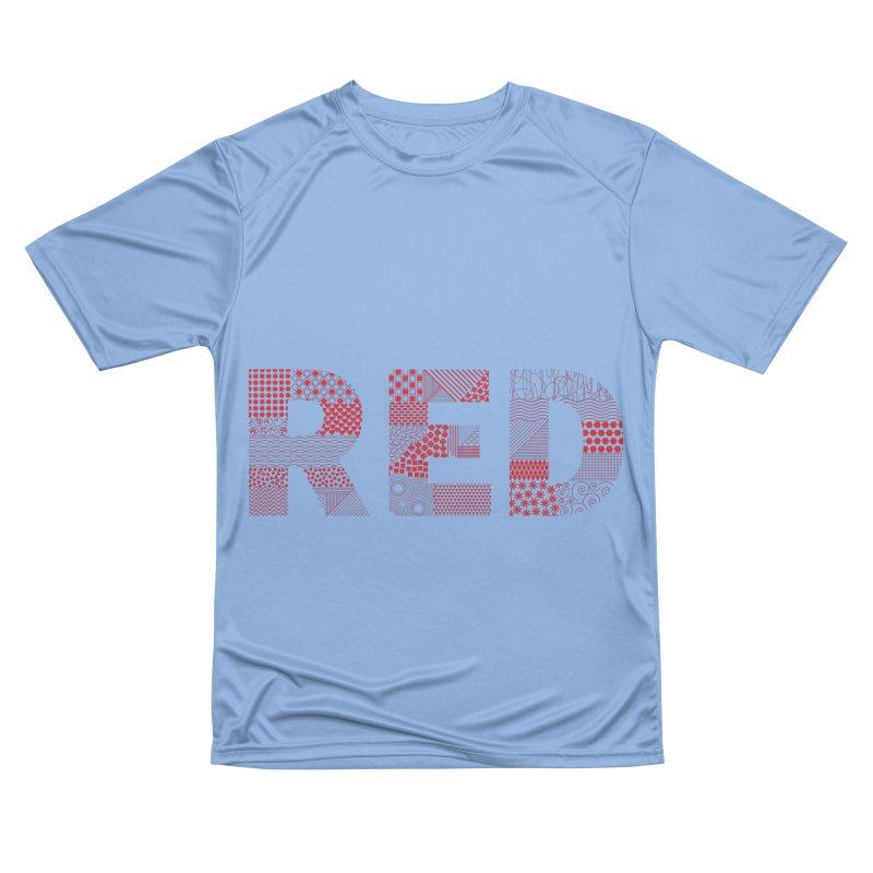 RED - Pattern Type Women's T-Shirt by Tangerine Dusk By KA