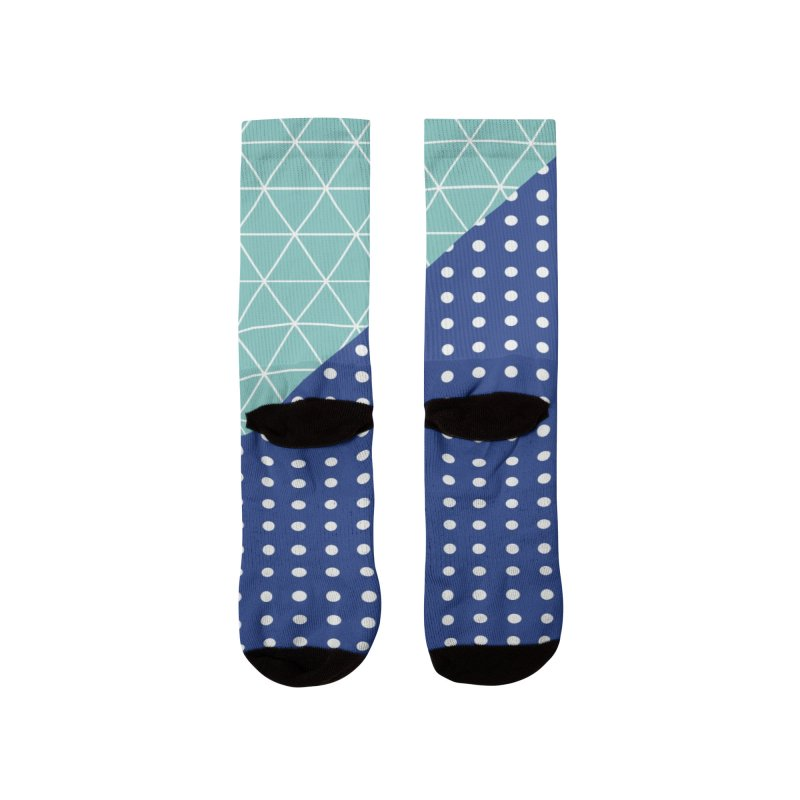 triangles - dots and scribble - one Men's Socks by Tangerine Dusk By KA