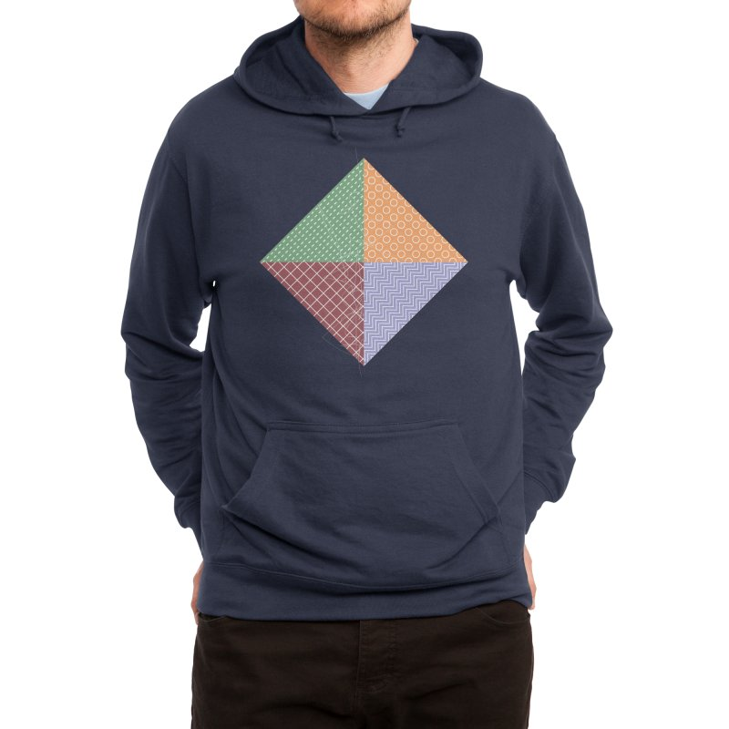twisted square Men's Pullover Hoody by Tangerine Dusk By KA