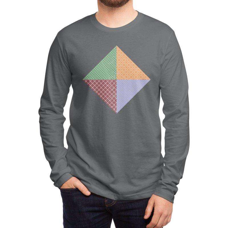 twisted square Men's Longsleeve T-Shirt by Tangerine Dusk By KA