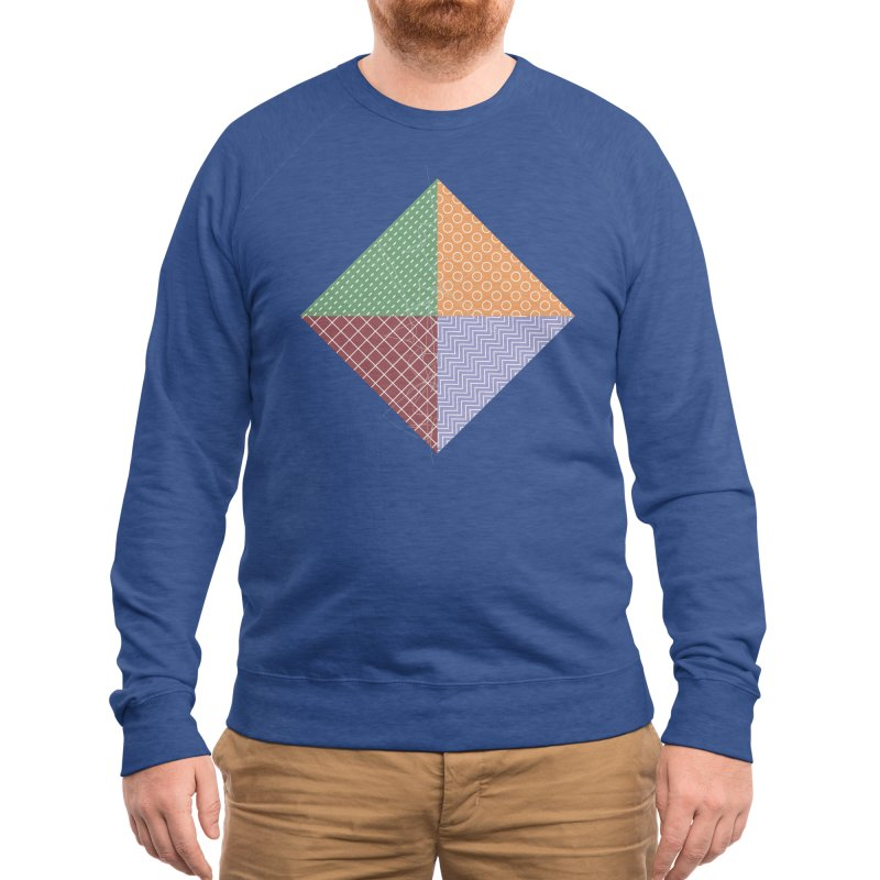 twisted square Men's Sweatshirt by Tangerine Dusk By KA