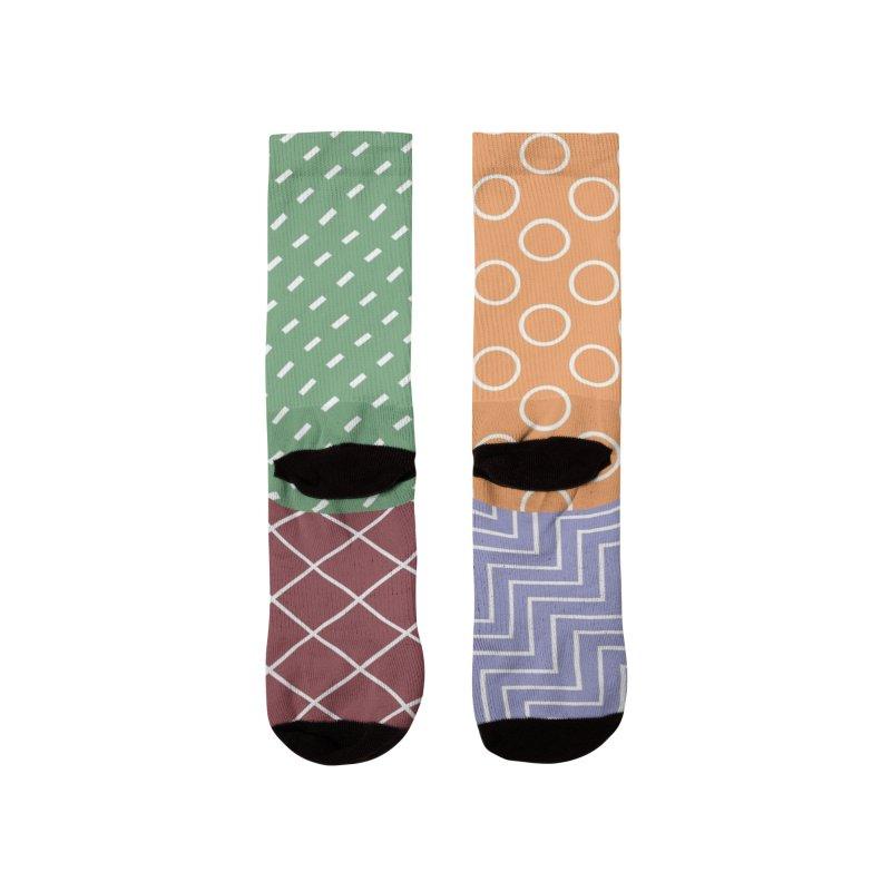 twisted square Men's Socks by Tangerine Dusk By KA