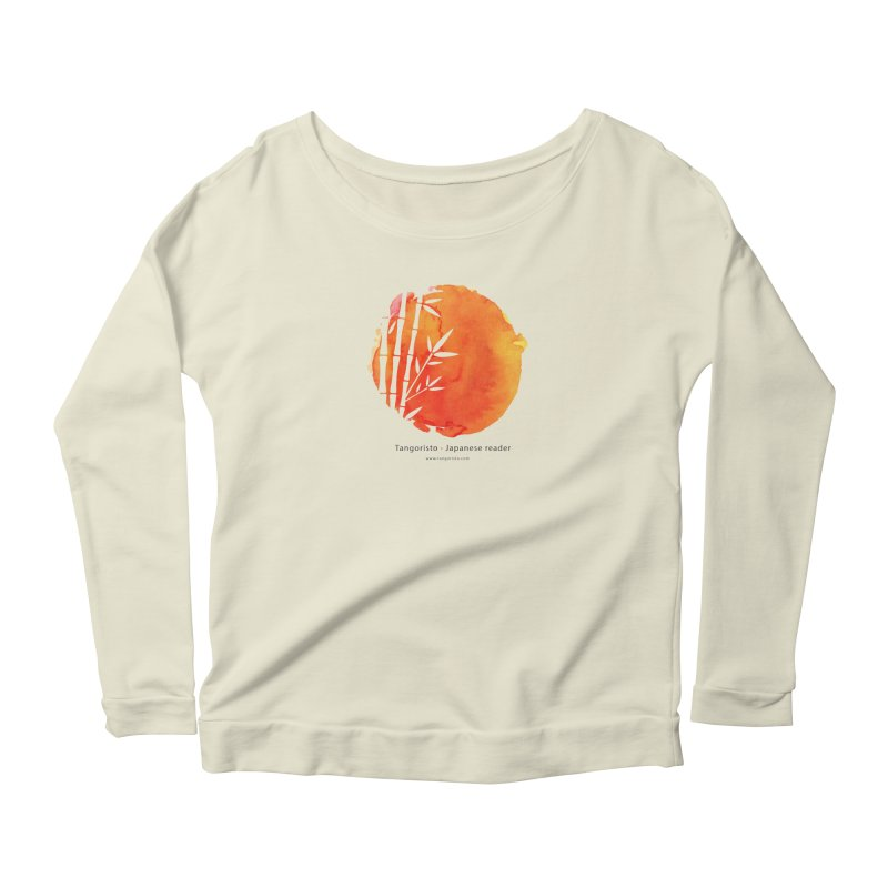 Tangoristo - Japanese Reading app logo with text Women's Scoop Neck Longsleeve T-Shirt by Tangoristo - Japanese Reading app shop