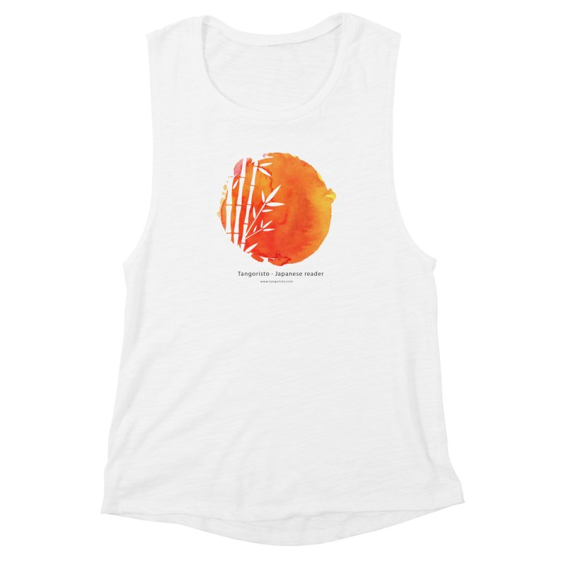 Tangoristo - Japanese Reading app logo with text Women's Muscle Tank by Tangoristo - Japanese Reading app shop