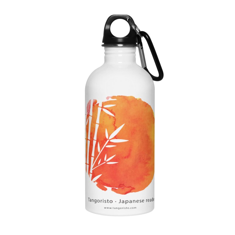 Tangoristo - Japanese Reading app logo with text Accessories Water Bottle by Tangoristo - Japanese Reading app shop